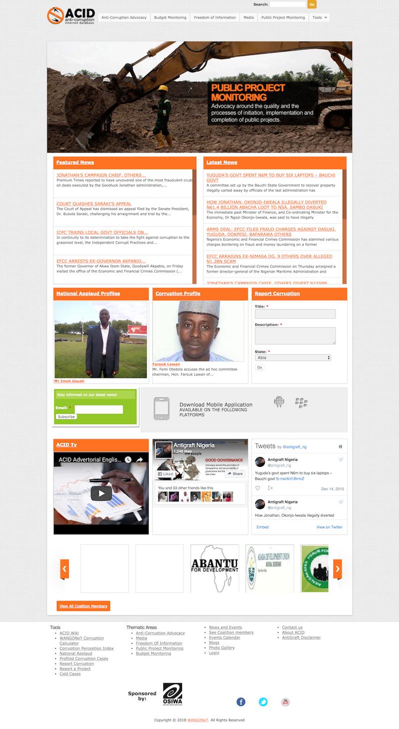 Anti-Corruption Internet Database