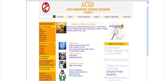 Anticorruption Internet Database (ACID-1)