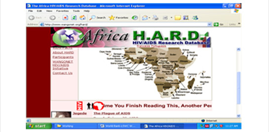 Africa HIV/AIDS Research Database (AFRIHARD)