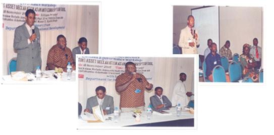 Assets Declaration Workshop